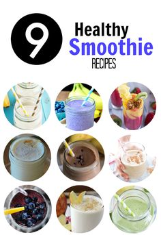 Nine Healthy Smoothie Recipes | www.themessybakerblog.com
