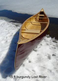 Burgunday lost river canoe