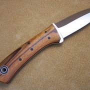 """The Bushboot is a beautiful and highly useful small knife with a 3.5"""" blade and 4"""" handle. This is also the size of the Hiking Buddy, and they share a lot of the bushcrafting and utility functionality. This knife also has a sexy barfight kind of bootknife inspiration, and adds a little of the tactical utility to the small knife category."""
