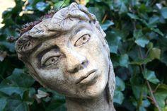 Gartenfiguren - Keramik Pflanzkopf Elfe, Gartenfigur - ein Designerstück von Sandlilien bei DaWanda