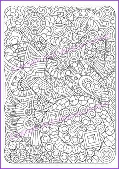 Abstract Doodle Zentangle Coloring pages colouring adult detailed advanced printable Kleuren voor volwassenen coloriage pour adulte anti-stress Adult coloring page Zentangle Pattern zentangle by ZentangleHouse