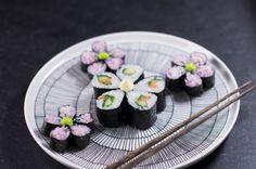 Sushi osa II – Nordic Atmosphere Marimekko, kirsikankukka-sushia