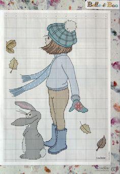 ru / Фото - Belle and Boo - BlueBelle Cross Stitch Gallery, Fall Cross Stitch, Cross Stitch For Kids, Cross Stitch Needles, Cross Stitch Baby, Cross Stitch Animals, Cross Stitch Charts, Cross Stitch Designs, Cross Stitch Patterns