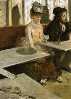 L'impressionnisme -Edgar Degas - La buveuse d'absinthe(1876 )