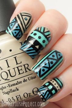 this thing about tribal patterns...well it doesn´t works for me...my nails finish just like creep...but if your good with the nail polish...you must do it....XOXO Andy