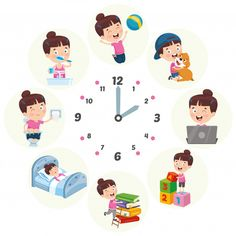 Kids daily routine activities vector image on VectorStock Daily Routine Activities, Activities For Kids, Kids Vector, Free Vector Art, Daily Schedule Kids, Kids Cartoon Characters, Material Didático, English Worksheets For Kids, School Clipart