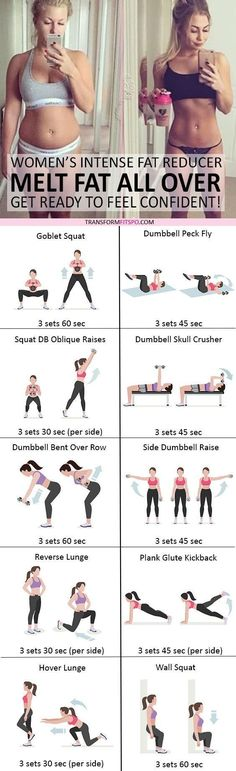 Belly Fat Workout - #womensworkout #workout #femalefitness Repin and share if this workout helped you melt fat all over! Click the pin for the full workout. www.kettlebellman... Do This One Unusual 10-Minute Trick Before Work To Melt Away 15+ Pounds of Belly Fat