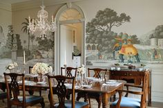 Laurel Bern, and interior designer in Westchester NY shares her love of grisaille-art-wallpaper-murals-screens and furnishings in home decorating