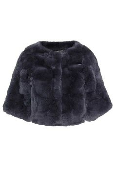 The Fur Side: Shop Coats from High to Low - Meteo by Yves Salomon cropped fur jacket