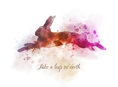 Rabbit Hare Quote ART PRINT Inspirational, Animal, Wildlife, Gift, Wall Art, Home Decor, quotes, gift ideas, motivational, watercolour, birthday, christmas, Take a leap of faith #Rabbit #Hare #Quote #ARTPRINT #Inspirational #Animal #Wildlife #Gift #WallArt #HomeDecor #quotes #giftideas #motivational #watercolour #birthday #christmas