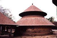 Architecture of Kerala -The circular Sreekovil style of Kerala temples-http://en.wikipedia.org/wiki/Architecture_of_Kerala