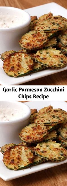 Veggie Side Dishes, Side Dish Recipes, Vegetable Dishes, Healthy Side Dishes, Vegetable Recipes, Food Dishes, Healthy Snacks, Parmesan Zucchini Chips, Zucchini Chips Recipe