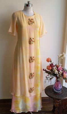 Zardozi Bootas Double Layer Dress - LabelKanupriya