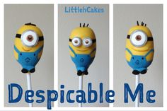 Despicable me: Cake pops
