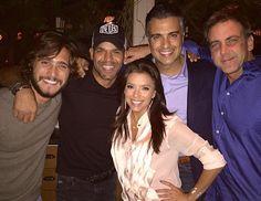 Eva, Jaime Camil, Carlos Ponce y Diego Boneta