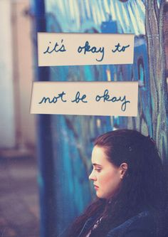 """13 reasons why Hannah Baker """"It's okay to not be okay"""".ughhhh yes 13 Reasons Why Reasons, 13 Reasons Why Netflix, Thirteen Reasons Why, Sad Quotes, Movie Quotes, Book Quotes, Random Quotes, Welcome To Your Tape, Sea Wallpaper"""