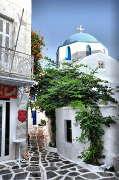 Parikia village, Paros, Greece