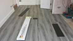 Vynil flooring by Moduleo Grey Flooring, Plank Flooring, Hardwood Floors, Home Renovation, Home Remodeling, Moving Out, Mobile Home, Tile Floor, Kitchen Ideas