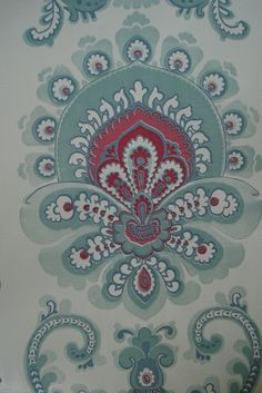 Vinyl Damask Wallpaper Shelf Paper Drawer Liner
