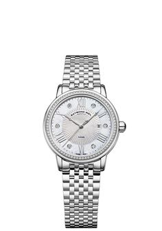 RAYMOND WEIL Genève > Maestro 2637-STS-00966 Ladies Watches - Automatic date Steel on steel 82 diamonds | RAYMOND WEIL Genève Luxury Watches...