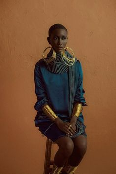Clam Magazine #28 Muse: Mahany Pery Photography: Adriano Damas #gold #fashion…