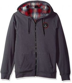 4f14d4202039a4 online shopping for Hurley Men s Flannel Lined Zip Up Two Layer Hoodie  Patch Detail from top store. See new offer for Hurley Men s Flannel Lined  Zip Up Two ...