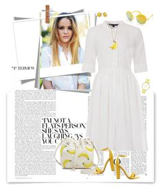 """""""White and Yellow"""" by ellie366 ❤ liked on Polyvore featuring Beauty & The Beach, French Connection, Kate Spade, Charlotte Russe, yellow, whitedress, citychic and readytowear"""