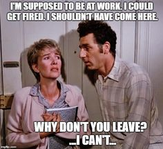 Kramer charms Marion the librarian...