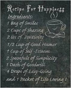 A Recipe for Happiness