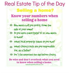 #RealEstate Tip Of The Day