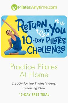 Over Online Pilates Videos; Pilates Challenge, 10 Day Challenge, Pilates At Home, Deep Breathing Exercises, Pilates Video, Yoga For Stress Relief, Kundalini Yoga, Yoga Positions, Yoga Moves