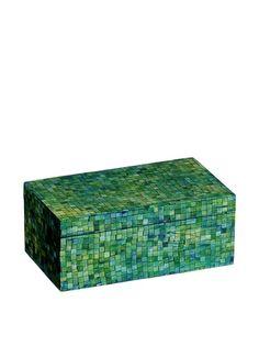 Mela Artisans Handcrafted Inlaid Bone Trinket Box, Green/Turquoise, http://www.myhabit.com/redirect/ref=qd_sw_dp_pi_li?url=http%3A%2F%2Fwww.myhabit.com%2Fdp%2FB00G0K58C4%3Frefcust%3D2OBPCYM5GNUIJXBPMVVSSOCWMA