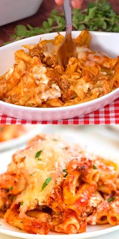 This easy Baked Ziti recipe might be a life-saver. Or at least, a reputation maker. It is the best family dinner recipe. And it is simple to make. Since life is crazy-busy for most of us, it's temptin Rigatoni Al Horno, Ziti Al Horno, Baked Rigatoni, Easy Baked Ziti, Best Baked Ziti Recipe, Baked Ziti With Ricotta, Fast Dinner Recipes, Fast Dinners, Easy Meals