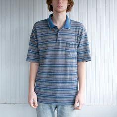 70's Striped Polo Shirt