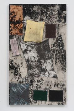 Sterling Ruby, BC (3724), 2012, Collage, paint, bleach, glue, fabric on wood, 121,9 x 213,3cm