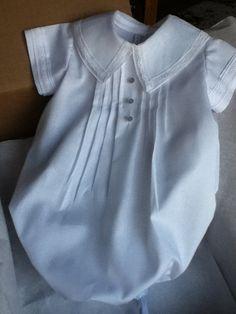 Baptism/Christening Newborn or Premie Boy Sac by TearsOfJoybyRuth, $85.00