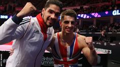 Louis Smith and Max Whitlock who claimed the gold medal on the pommel horse at World Championships in Glasgow, 2015 and a first gold ever for GB.