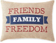 JCP HOME JCPenney HomeTM Americana Friends Family Freedom Pillow
