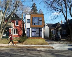 Modern Infill Toronto - Hive Modular 2-Storey Design under 16' wide, with 1740 sq.ft. of interior living space, this 2-story plan is ideal for Toronto's urban infill sites