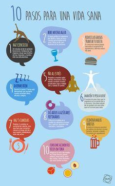 10 pasos para llevar una vida sana.