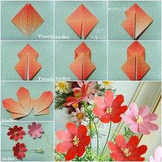 40 Origami Flowers You Can Do | Cuded Paper Origami Flowers, Origami Lily, Instruções Origami, Origami Star Box, Useful Origami, Origami Design, Paper Roses, Origami Ideas, Origami Bookmark