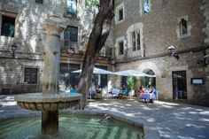 Sant Felip Neri square in the #GothicQuarter in Barcelona