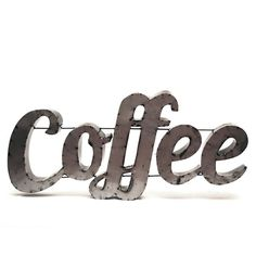 Rustic Arrow ''Coffee'' Wall Decor ($200) ❤ liked on Polyvore featuring home, home decor, wall art, fillers, words, text, backgrounds, quotes, phrase and saying