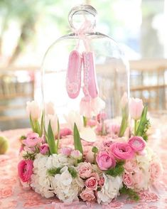 Beautiful baby shower table centre piece