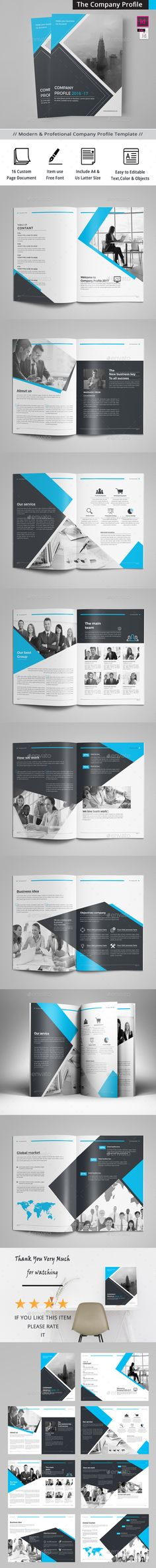 Company Profile Brochure 2017 Template InDesign INDD   Company ...