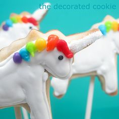 more rainbows and unicorns (cookies and decorations) | The Decorated Cookie