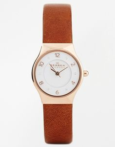 LOVE LOVE this Skagen Grenen Relaxed Leather Watch