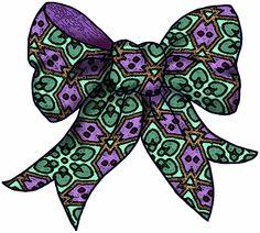 purple bows clipart - Google Search