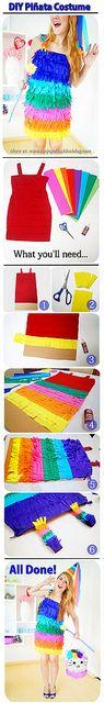 DIY Piñata Costume for Halloween -- Easy and cute!