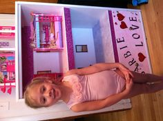 Barbie house with bottom drawer for Barbie storage